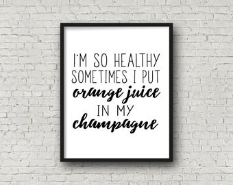 Mimosa Wall Art (5x7, 8x10, 11x14 Included!), Bar Sign, Bar Art, Kitchen Sign, Typography Print, Fitness Motivation, Motivational Poster