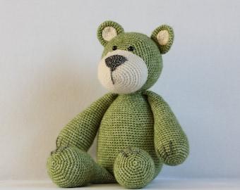 Teddy bear (green/brown)