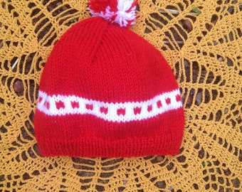 Knitted Toddler Beanie - Where's Wally Red