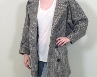 1960s Tweed Coat, Vintage Coat, Winter Coat