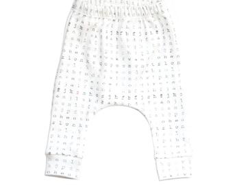 baby leggings,  gender neutral baby leggings, toddler leggings, organic toddler leggings, typography, modern, grunge