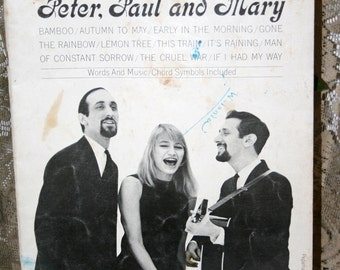 1962 Recorded Hits of Peter, Paul & Mary//Songbook ~ Arranged by Jerry Sears//Vintage Song Book