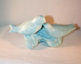 McCoy Bird Planter//Blue McCoy Pottery//Bird Planter Pottery//Vintage McCoy Pottery