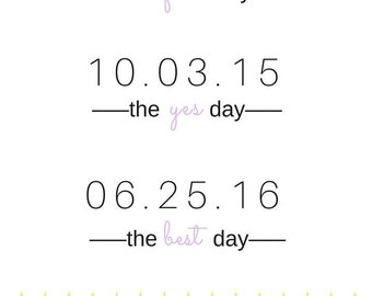 Wedding Date Poster