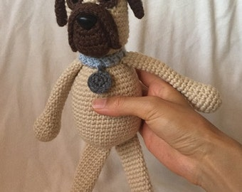 Wilder's Mastiff Puppy Dog Crochet Amigurumi Plush stuffed animal