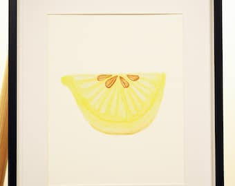 Lemon Art Print for Nursery or Home / A4 Print Unigender Baby Boy Baby Girl