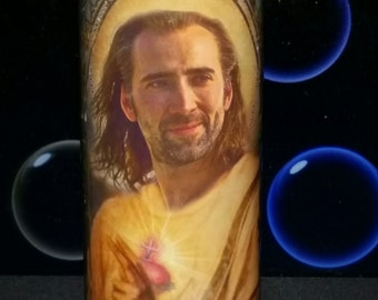 Nicholas Cage Celebrity Saint Prayer Candle