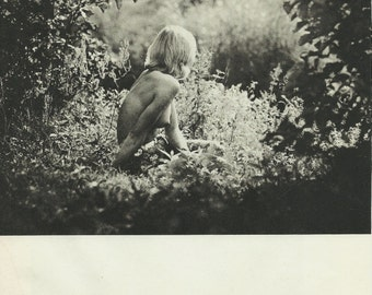 Naked woman in the forest - Waiting Fine art photo vintage print