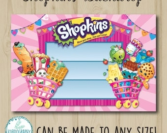 Shopkins Backdrop - can be made to any size! As featured on party blogs. Digital/Printable File