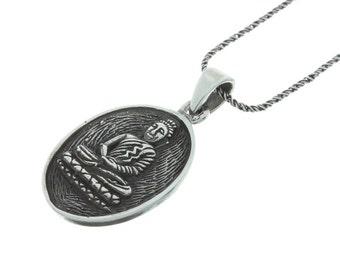 Sterling Silver Buddha necklace, Buddha necklace, Sterling Silver necklace, Yoga necklace
