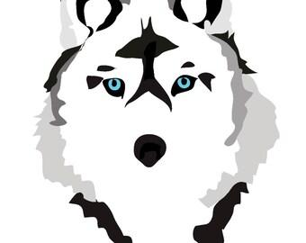 Wolf Wall Art, Printable Art