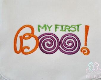 My First Boo - First Halloween  Short sleeve Bodysuit, Shirt, Bib or Burp Cloth -  1st Boo, 1st Halloween