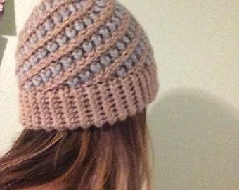 Knit Heart Beanie Hat