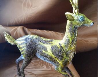 "Solar Deer ""Allian"" - handmade fantasy sculpture fanart heroes of might and magic"