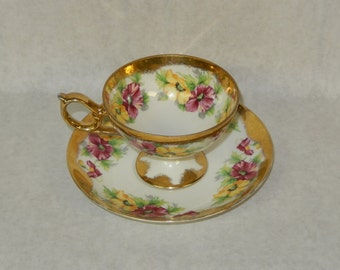 Nikoniko China Vintage Tea Cup Made In Japan