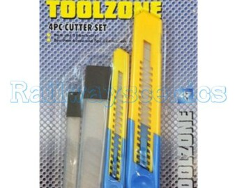 Toolzone 4 piece snap off knife cutter set