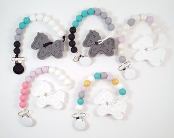 Pony Pacifier Clips