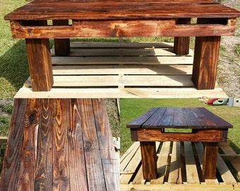 Beautiful Solid Pallet Coffee Table (pick your color or size)