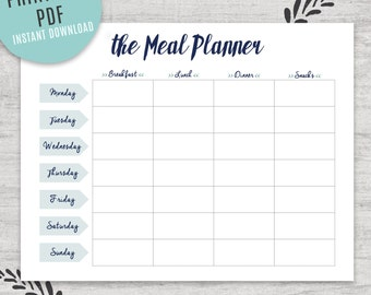 Weekly meal planner | Etsy