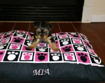 Personalized Custom Dog Beds- You Choose Pattern