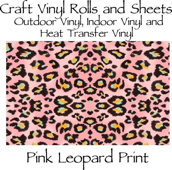 Beautiful, Vibrant Craft Vinyl and Heat Transfer Vinyl in Pink Leopard Print