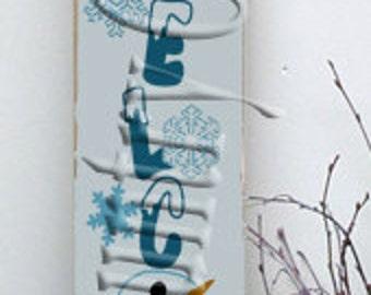 Welcome Snowman Face   SVG, PNG, JPEG