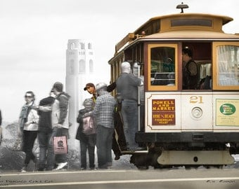 Car 21 and Coit Tower