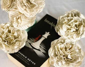 CUSTOM MADE The Twilight Saga Flower Bouquet Using A Second Hand Novel