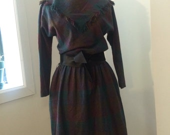 Vintage Leslie Fay Petites 3/4th sleeve dress