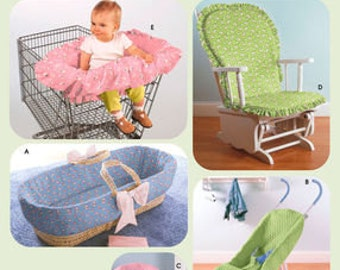 Sewing Pattern for Baby Accessories, Simplicity 4636, Covers for Rocking Chair, Shopping Cart Insert, Bassinet, Car Seat Cover, Stroller