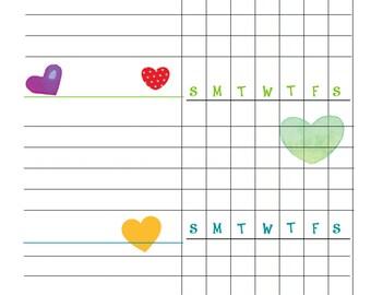 Blank Chore Chart Etsy