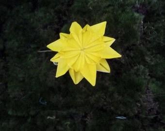 Origami Flower Hair Clip