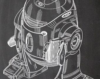 Star Wars, robots, print, R2D2, print, patent, A4