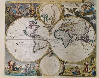 Vintage Maps Collection of Old World Maps Six Decorative Map Prints World Art Prints