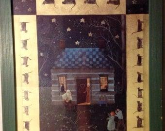 "Carol Endres ""Grandpa's Fiddling Again"" original folk art"