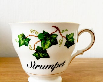Strumpet | Custom Swear Teacup | Made To Order | Funny Rude Insult Obscenity Profanity | Unique Gift Idea