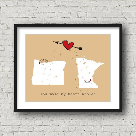 Wedding Gift Ideas For Distant Friends : Distance Best Friend Gift Long Distance, Personalized Wedding Gift ...