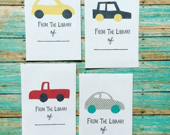 Cars Bookplates, Set of 12 or 24