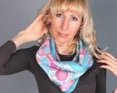 Caramel  Silk Scarf  Handpainted  Silk Scarf Pastel Silk Scarf  Batik Silk Scarves  Pink Silk Scarf Small Silk Scarf  Infinity Silk Scarves.