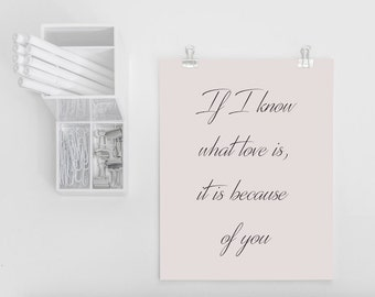 Romantic Postcard 'If I Know What Love Is It Is Because Of You'
