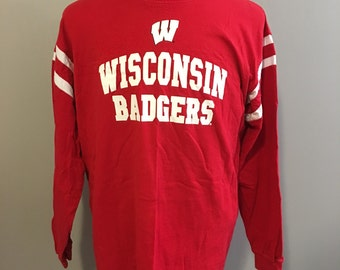 University of Wisconsin Badgers Long Sleeve T-Shirt Large