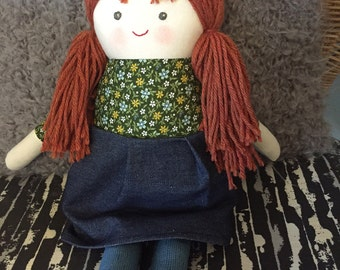 """Charlotte is a 17"""" doll, handmade with all natural materials. Waldorf inspired dolls for creative play."""