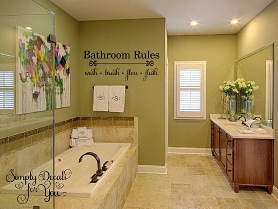 bathroom rules wall decal bathroom decal bathroom sticker wall