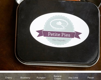 Set of 6 Petite Pies Mini Magnets