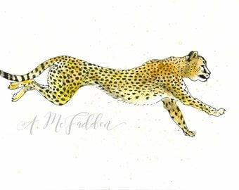 Watercolor Cheetah