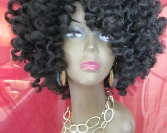 Crochet Hair Unit : Items similar to CROCHET WIG Unit Synthetic Curly Natural Protective ...