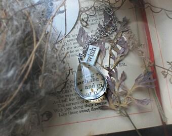 Dew Drop Wish Charm Necklace ~ Fairy Magic ~ Good luck charm ~