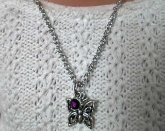 """18"""" Doll Jewelry Butterfly Charm Necklace American Girl Accessory"""