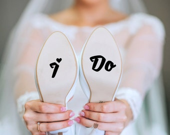 Wedding Decals - I Do Shoe Sticker - I Do Stickers - Something Blue for Bride - Bottom of Shoe - Shoe Sticker - Wedding Stickers - I Do Shoe