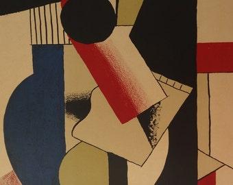 Fernand Léger: Guitar Cubist, signed lithograph - 1979